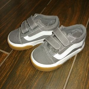 Toddler Gray Vans size 4, Worn once